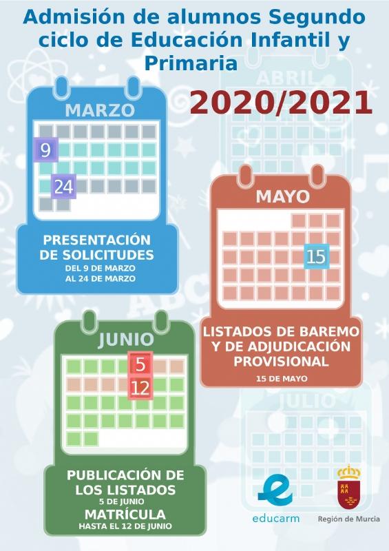 Las familias pueden solicitar plaza en los centros educativos desde hoy y hasta el 24 de marzo de cara al próximo curso escolar 2020/2021