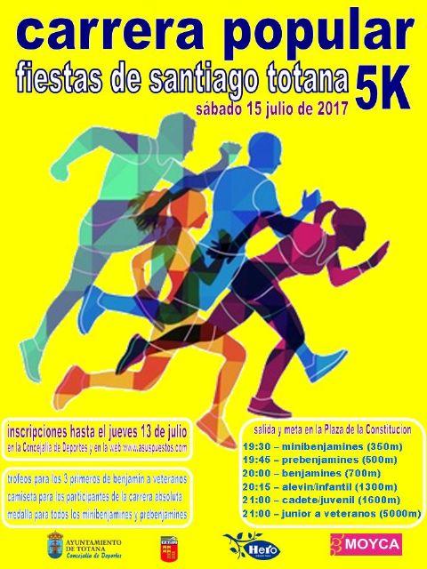 """Vídeo. La Carrera Popular """"Fiestas de Santiago"""" se celebrará el próximo 15 de julio, dentro del programa de actividades deportivas de los festejos patronales"""