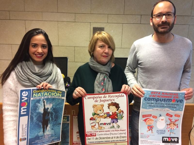 """Vídeo. El Centro Deportivo """"MOVE"""" promueve una campaña de recogida de juguetes del 11 de diciembre al 4 de enero a beneficio de las dos Cáritas de Totana"""