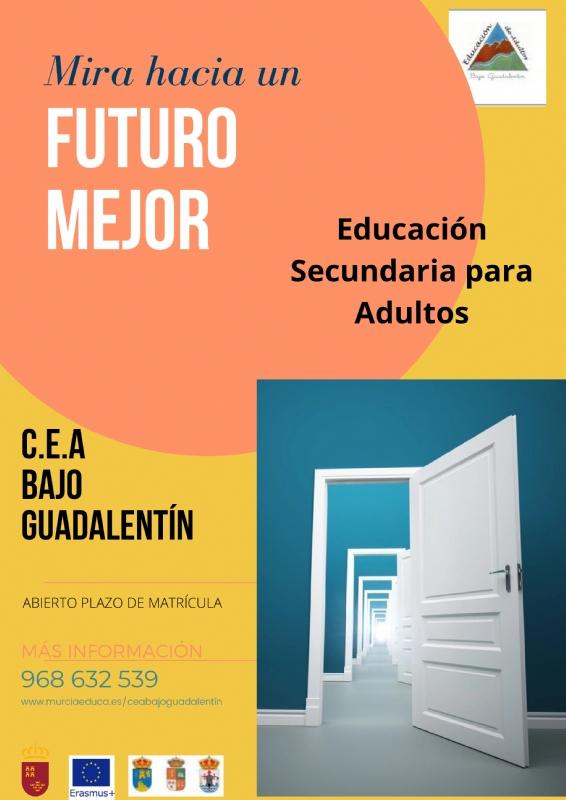 El Centro de Educación de Adultos Bajo Guadalentín mantiene una amplia oferta de enseñanzas regladas y talleres de cara al nuevo curso 2021/22