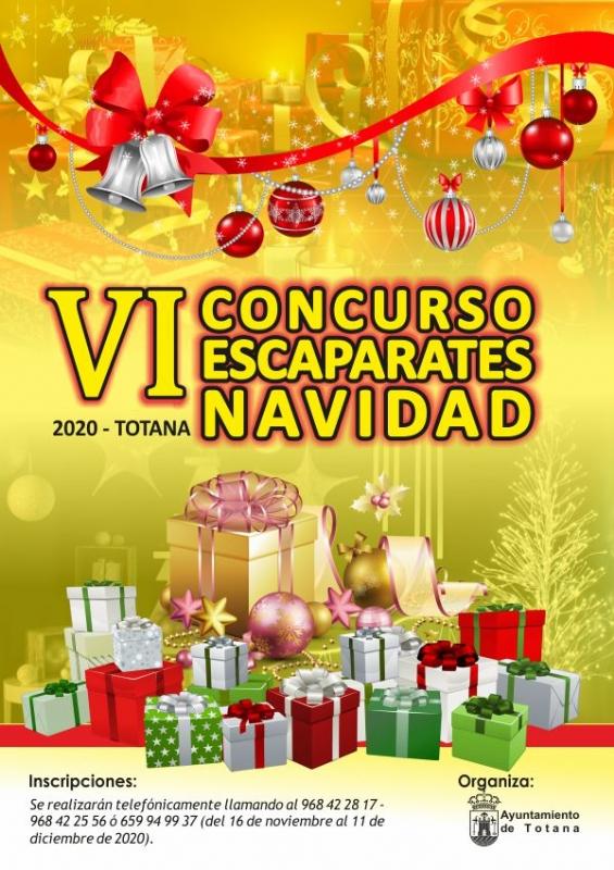 La Concejalía de Cultura organiza el VI Concurso de Escaparates de Navidad 2020, cuyo plazo de inscripción está abierto hasta el próximo 11 de diciembre