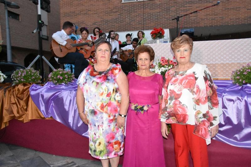 Juana Cánovas, nueva reina del Centro Municipal de Personas Mayores de la plaza Balsa Vieja de Totana del año 2019