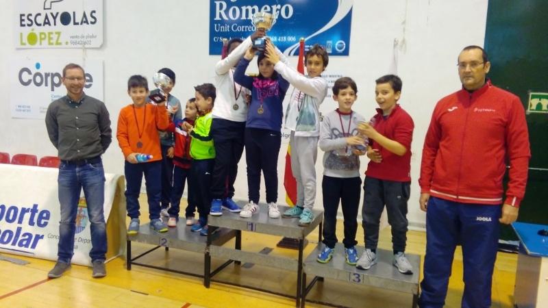 La Concejalía de Deportes organizó la Fase Local de Tenis de Mesa de Deporte Escolar, que contó con la participación de 69 escolares de Totana