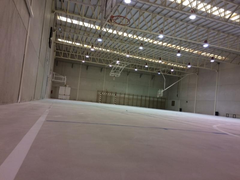 La Concejalía de Deportes finaliza las obras de acondicionamiento del pavimento de la Sala Escolar en la pedanía de El Paretón-Cantareros que ha permitido acondicionarla a la práctica de multideporte