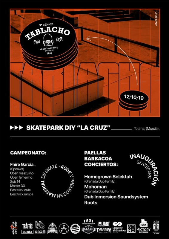 """Vídeo. La 3� edición del Tablacho Skateboarding Contest se celebra este sábado 12 de octubre en el Skatepark Diy """"La Cruz"""", organizada por la Asociación Ministros del Aire"""