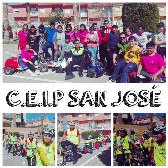 """Un total de 390 escolares del CEIP """"San José"""" participa en las sesiones formativas de la Escuela de Educación Vial de la Policía Local"""