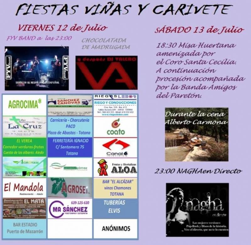 Las fiestas de la diputación de Viñas y Carivete se celebran este próximo fin de semana con un atractivo programa de actividades musicales