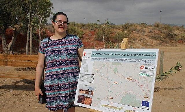Vídeo. Autoridades municipales asisten a la inauguración de los nuevos tramos de las vías verdes del Campo de Cartagena y Mazarrón