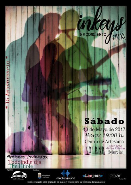 """El grupo """"Inkeys"""" celebra su decimoquinto aniversario con un concierto el próximo sábado frente al Centro Tecnológico de Artesanía"""
