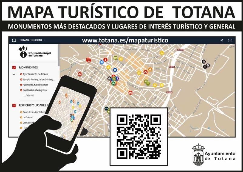 Vídeo. La Concejalía de Nuevas Tecnologías diseña una aplicación turística sobre servicios, lugares de interés e información general, entre otros, de Totana; muy útil para vecinos y visitantes