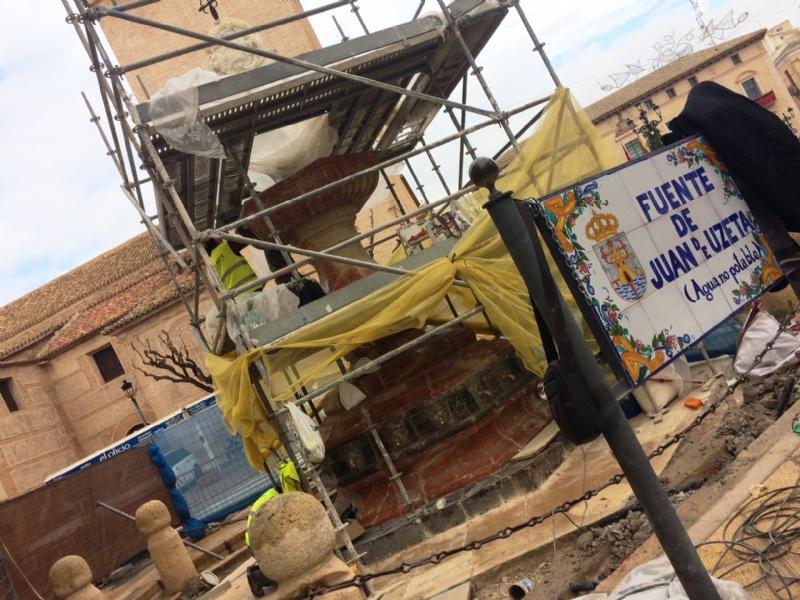 Las obras de restauración de la Fuente Juan de Uzeta se inauguran el próximo 28 de diciembre (10:30 horas) con la presencia de la consejera de Turismo y Cultura y autoridades municipales