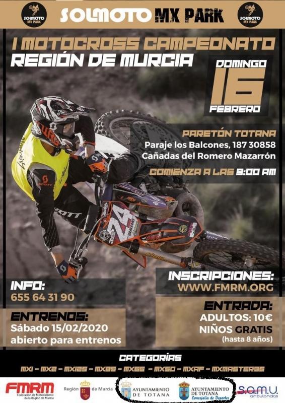 Se adoptarán medidas legales por utilizar los logos corporativos para anunciar, sin consentimiento, el I Motocross Campeonato Murcia, en un recinto que carece de licencia y está precintado