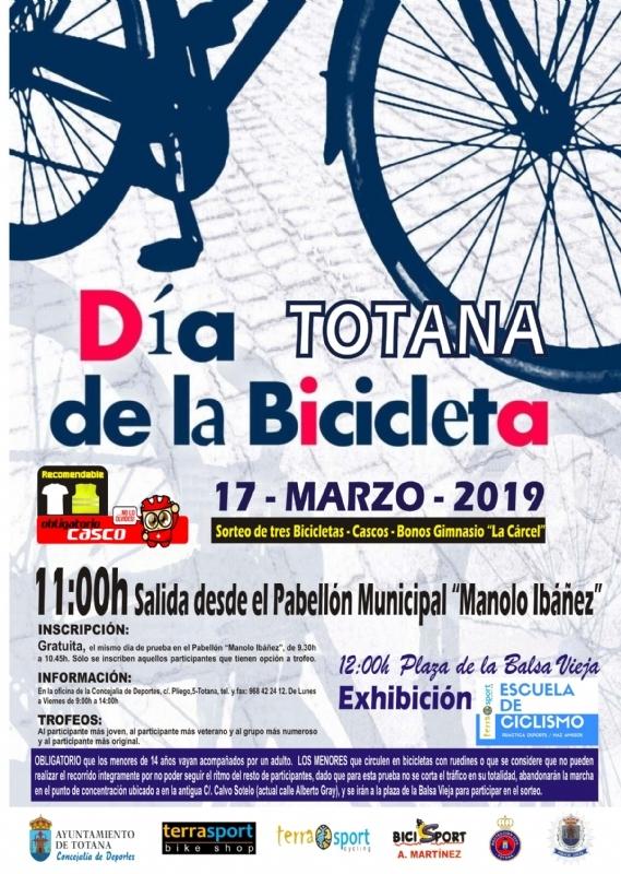 """El Día de la Bicicleta se celebra este domingo 17 de marzo, organizado por la Concejalía de Deportes y """"Terra Sport Ciclyng"""""""