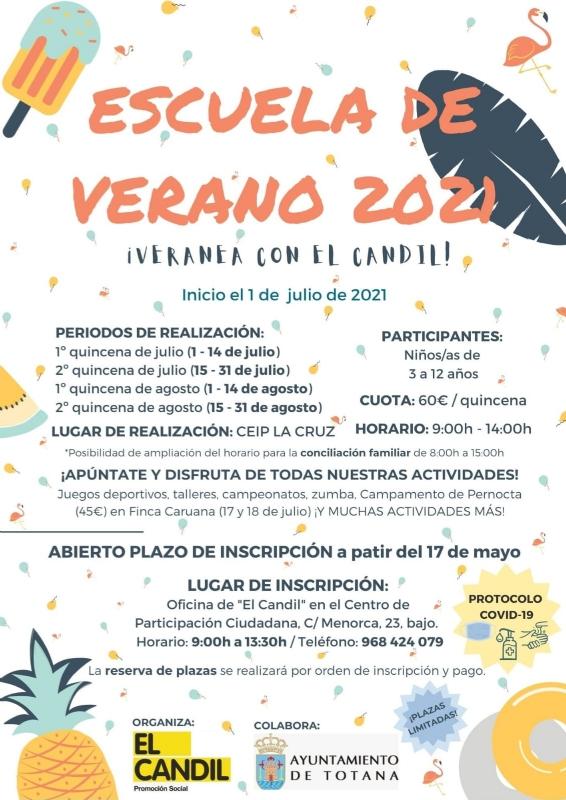 """Este lunes se abre el plazo para la Escuela de Verano�2021 que promueve el Colectivo """"El Candil"""" desde julio a finales de agosto"""
