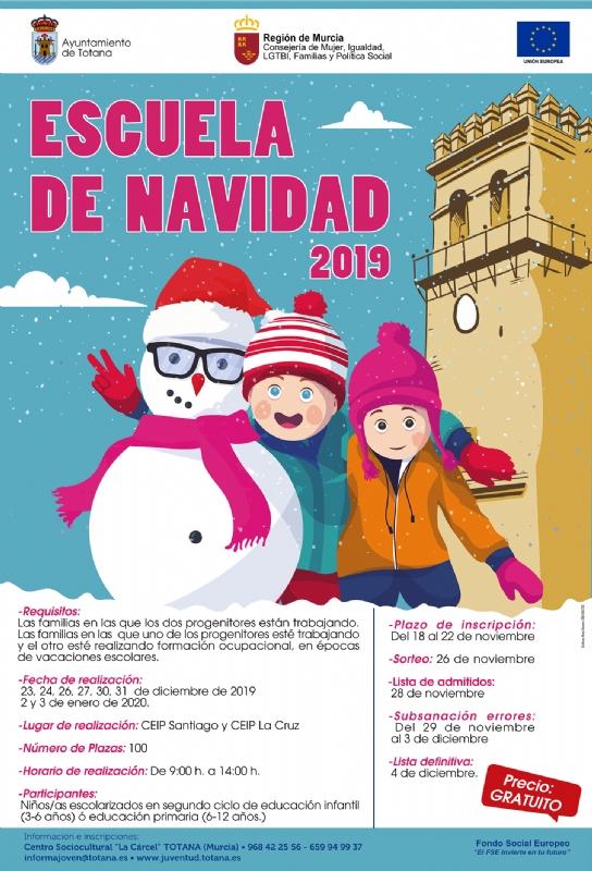 Se da a conocer el procedimiento de selección de participantes para la Escuela de Navidad 2019, cuyo plazo de inscripción se fija del 18 al 22 de noviembre