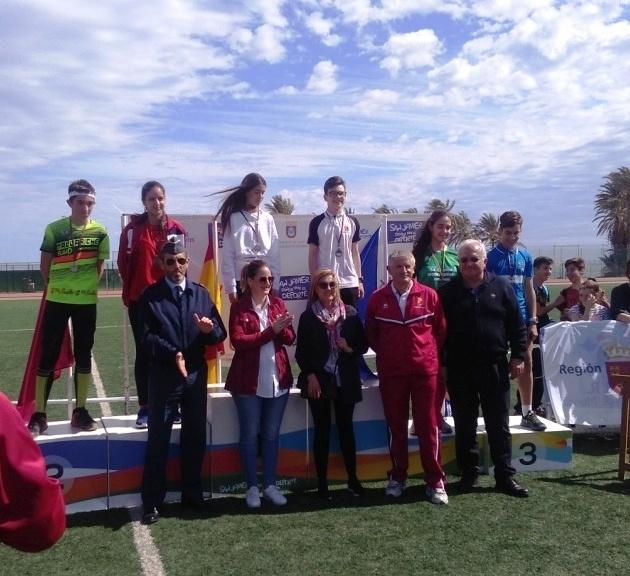 Excelentes resultados de los centros de enseñanza de Totana en la Final Regional de Orientación de Deporte Escolar, celebrada en San Javier, con tres campeonas regionales