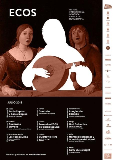 Comienza esta semana el III Festival Internacional de Música Antigua ECOS de Sierra Espuña, que contará con una decena de conciertos en el que se combina el patrimonio cultural y la naturaleza