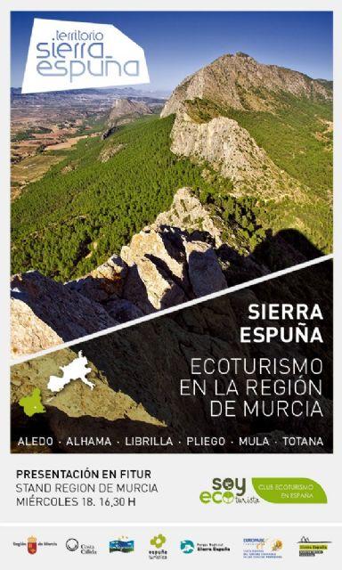 """Totana está presente en la Feria Internacional de Turismo (FITUR), a través de la Mancomunidad de Servicios Turísticos de Sierra Espuña, con el proyecto de ecoturismo """"Territorio Sierra Espuña"""""""