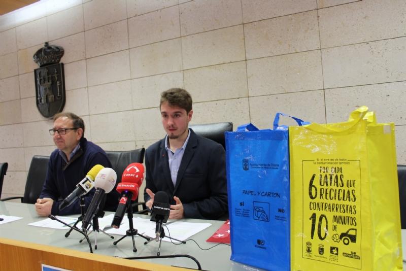 """Vídeo. Comienza la campaña de sensibilización ambiental sobre reciclaje de residuos """"Piensa con los pulmones"""", cuyo premio consiste en una estancia en un  balneario de  la Región"""