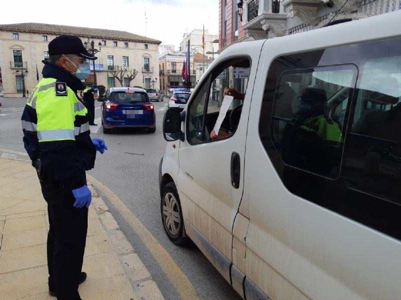 La Policía Local ha realizado 40 vigilancias de cuarentenas y averiguaciones de posibles cadenas de contagio desde que se inició la crisis sanitaria por COVID-19