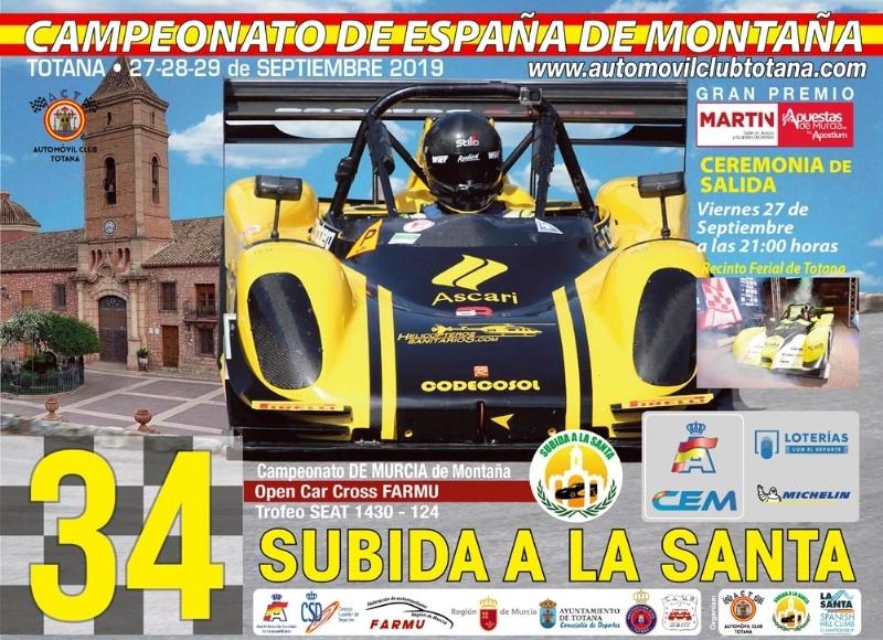 La 34� Subida a La Santa cuenta este fin de semana, finalmente, con la participación de 67 pilotos inscritos, en el que se jugarán el Nacional en varias categorías