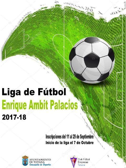 """Hoy finaliza el plazo de inscripción de equipos para la temporada 2017/18 en la Liga de Fútbol """"Enrique Ambit"""", que comenzará el fin de semana del 7 y 8 de octubre"""