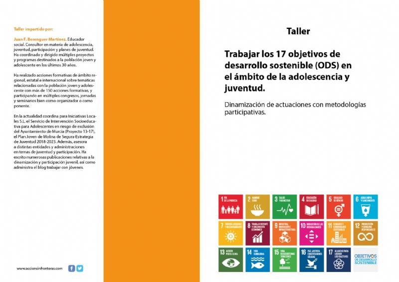 """Juventud colabora en la organización del Taller """"Trabajar los 17 objetivos de desarrollo sostenible (ODS) en el ámbito de la adolescencia y juventud"""", que se celebrará del 18 al 20 de mayo"""
