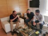 El alcalde se reúne con los nuevos responsables del Club Olímpico de Totana para reanudar relaciones institucionales e impulsar acciones en común de cara a la próxima temporada 2019/2020