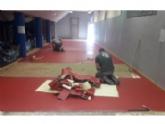 La Concejalía de Deportes sustituye el pavimento sintético de la Sala de Tenis de Mesa del Pabellón de Deportes 'Manolo Ibáñez'