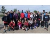 Veintiún escolares totaneros participaron en la Final Regional de Campo a Través de Deporte Escolar, celebrada en San Pedro del Pinatar, en las categorías infantil, cadete y juvenil