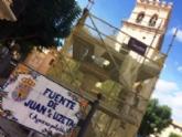 En un mes aproximadamente estarán finalizadas las obras de restauración de la emblemática Fuente Juan de Uzeta