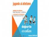 """La Concejalía de Deportes organiza la Fase Local de Jugando al Atletismo de Deporte Escolar este sábado 8 de febrero en el Pabellón de Deportes """"Manolo Ibáñez"""""""