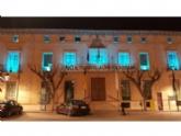 La fachada principal del Ayuntamiento de Totana se iluminará mañana por la noche de color azul turquesa como respaldo al Día Mundial de las Lipodistrofias