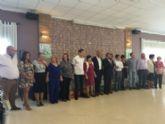 Autoridades municipales asisten a la comida anual de hermandad de la Junta Local de la Asociación Española contra el Cáncer (AECC) de Totana
