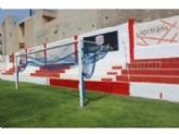 """La Concejalía de Deportes repinta el recinto interior del estadio municipal """"Juan Cayuela"""" y realiza trabajos de mantenimiento durante el confinamiento"""