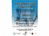 Un total de 844 personas están convocadas mañana a la jornada de vacunación para inocular la segunda dosis con Pfizer que se efectuó el 15 de abril