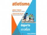 """La Concejalía de Deportes organiza el próximo sábado 15 de febrero la Fase Local de Atletismo de Deporte Escolar, en el polideportivo municipal """"6 de Diciembre"""""""