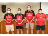 El Ayuntamiento realiza una recepción institucional al equipo Framusa Totana Tenis de Mesa por su éxito en los Campeonatos de España de Veteranos, celebrados en Antequera (Málaga)