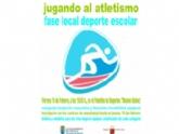 """La Concejalía de Deportes organiza mañana viernes 16 de febrero la Fase Local de """"Jugando al atletismo"""" de Deporte Escolar, en el Pabellón de Deportes 'Manolo Ibáñez'"""