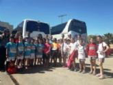 Varios escolares de Totana participan en la Final Regional de Campo a Través, en las categorías alevín y benjamín, que se celebró en Lorca