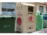 """Continúa el servicio de recogida  en la vía pública de ropa usada, calzado y juguetes a beneficio de """"Proyecto Abraham""""; a través de los 19 contenedores distribuidos por el casco urbano"""