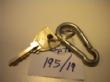Ver foto 161 - EXPTE.195/19 1 LLAVE DE PUERTA CON UNA ARGOLLA Y UNA ANILLA